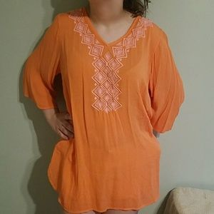 👠Lilly Pulitzer for Target orange and pink tunic